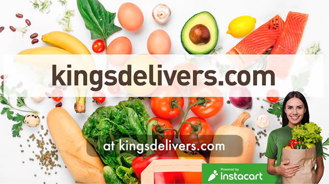 Fast. Fresh. Delivered. Kings is now on Instacart!